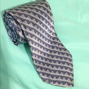Brioni Tie Men's 100% Silk Blue / White Excellent